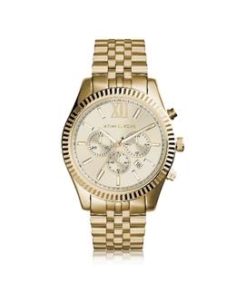 Lexington - Золотистые Мужские Часы Хронограф из Нержавеющей Стали Michael Kors MK8281