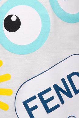Хлопковая футболка Fendi Kids 69043583