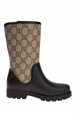 Комбинированные сапоги Gucci Kids 125656270