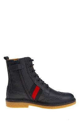 Кожаные ботинки Gucci Kids 125656271