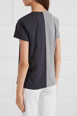 Контрастная футболка с цепочкой Valentino 21063607
