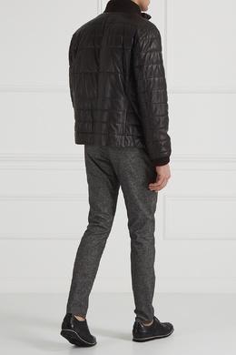 Стеганая кожаная куртка Boss 116664013