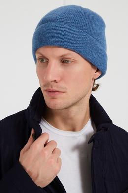Голубая шапка из кашемира Canali 179365627