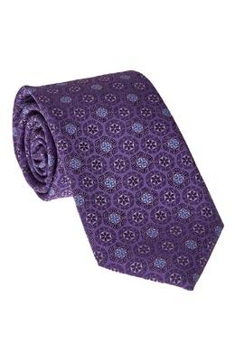Шелковый галстук фиолетового цвета Canali 179365705