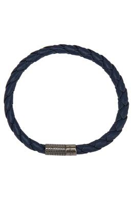 Синий кожаный браслет Canali 179369128