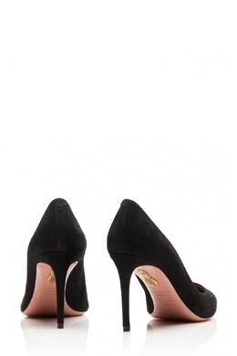 Черные туфли из замши Simply Irresistible Pump 85 Aquazzura 97572023