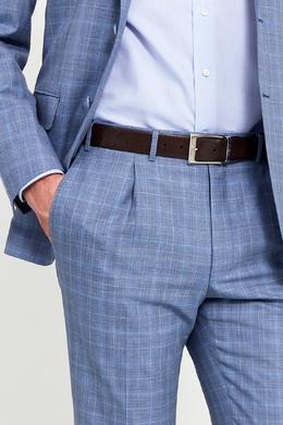 Коричневый ремень из текстурированной кожи Canali 179374222