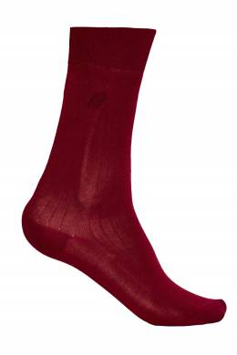 Бордовые носки из хлопка Brioni 167071948