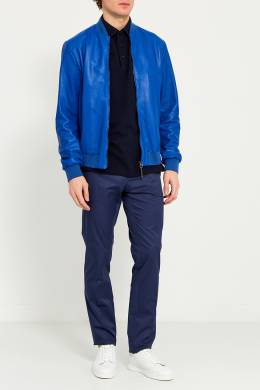 Куртка из синей перфорированной кожи Bikkembergs 148773356