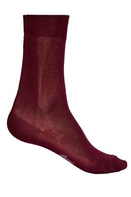 Бордовые носки из шелка Brioni 167071947
