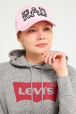 Розовая кепка с объемной вышивкой Essentiel Antwerp 75478852