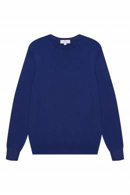 Синий джемпер из хлопка Canali 179374116