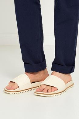 Белые сандалии с объемным логотипом Fendi 163283565