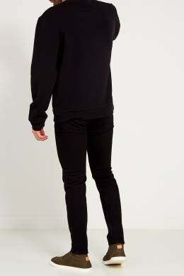 Черные джинсы с аппликацией Fendi 163283682