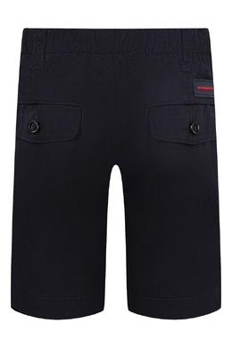 Черные шорты с эластичным поясом Burberry Kids 125379585