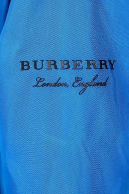 Синяя куртка Burberry Kids 125379599