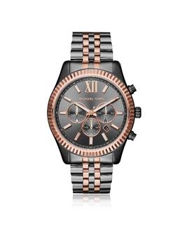 Двухцветные Мужские Часы Хронограф Lexington Michael Kors MK8561