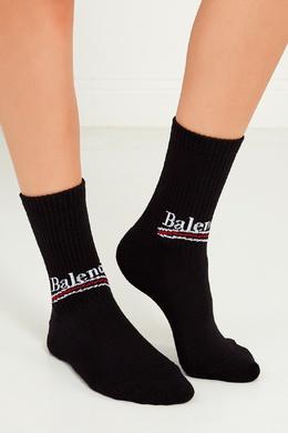 Черные носки из хлопка с логотипом Balenciaga 39784768