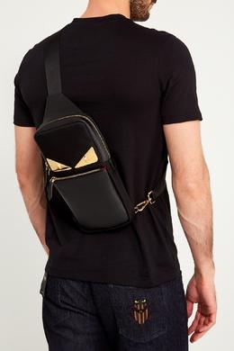 Черный рюкзак на одно плечо Bag Bugs Fendi 163286109