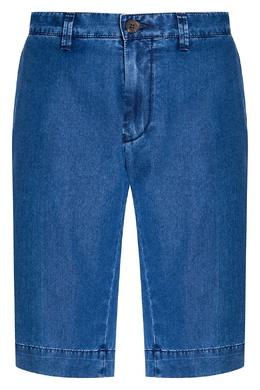 Голубые джинсовые шорты Canali 179386983