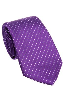 Фиолетовый галстук в горошек Canali 179387044