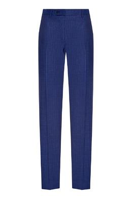 Синий костюм с полоску Canali 179387023