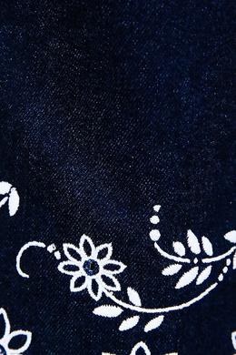 Темно-синие джинсы с отделкой Fendi Kids 69087366