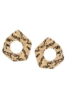 Золотистые серьги с отверстиями Rubynovich 134688978