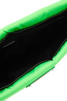 Текстильный клатч зеленого цвета Prada 4089589