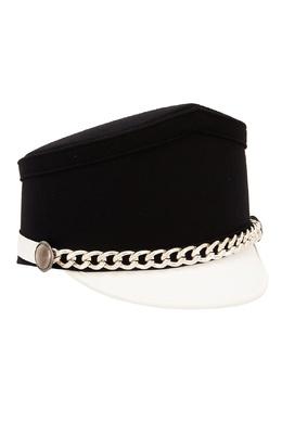 Контрастная шляпа с цепочкой No. 21 3591637