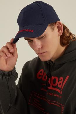 Синяя кепка с контрастным логотипом Balenciaga Man 267390042