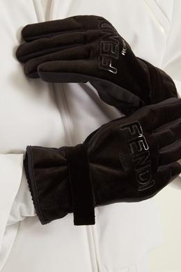 Черные перчатки с логотипом Fendi 163293561