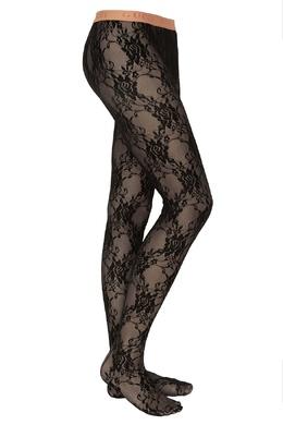 Черные кружевные колготки Gucci 47098512
