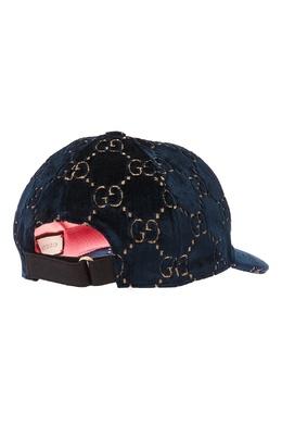 Вельветовая бейсболка с монограммой Gucci 47096312