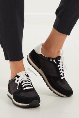 Черные кроссовки с контрастной шнуровкой Boss 116696858