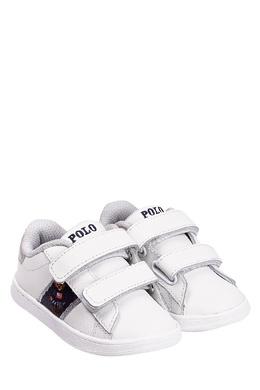 Белые кеды с контрастной отделкой Ralph Lauren Kids 125295241