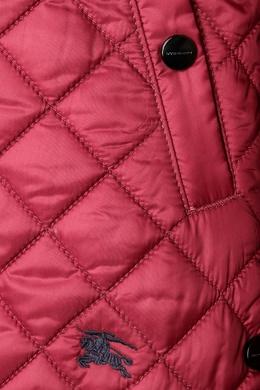 Стеганая красная куртка Burberry Kids 125395250