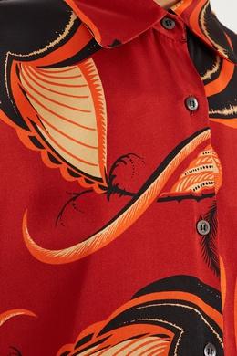 Шелковая блузка Dries Van Noten 152599509