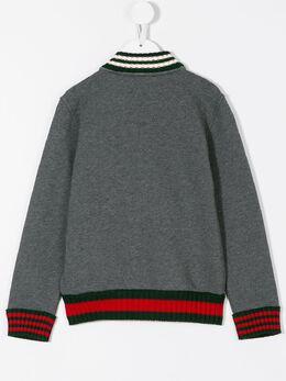 Gucci Kids - куртка-бомбер с полосками Web 393X9D60903353590000