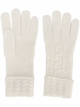 N.peal cable-knit gloves NPA624