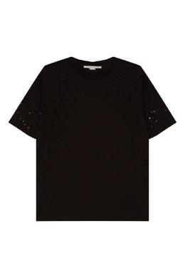 Черный топ с кружевной отделкой Stella McCartney 19372144