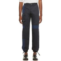 Jacquemus Navy Le Pantalon Gadjo Workwear Trousers 182553M19100102GB