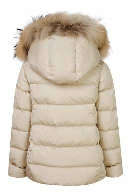 Бежевая куртка с мехом Il Gufo 1205102566