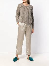 Forte Forte - belted satin trousers 3MYPANTS930655890000