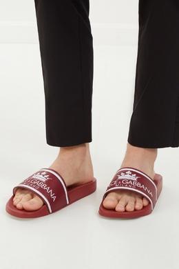 Красные шлепанцы Dolce&Gabbana 599101276