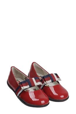 Красные туфли с контрастной перемычкой Gucci Kids 1256102818