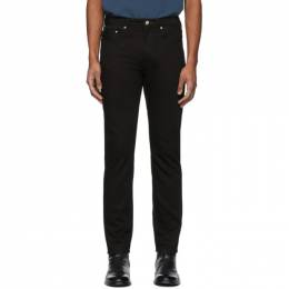 Ps by Paul Smith Black Stretch Slim-Fit Jeans M2R 100Z B20003