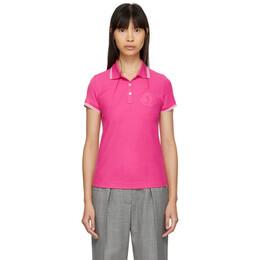 Moncler Pink Logo Polo 191111F10800403GB