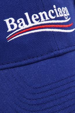 Синяя бейсболка с логотипом Balenciaga 397102540