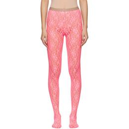 Gucci Pink Lace Tights 191451F07601903GB